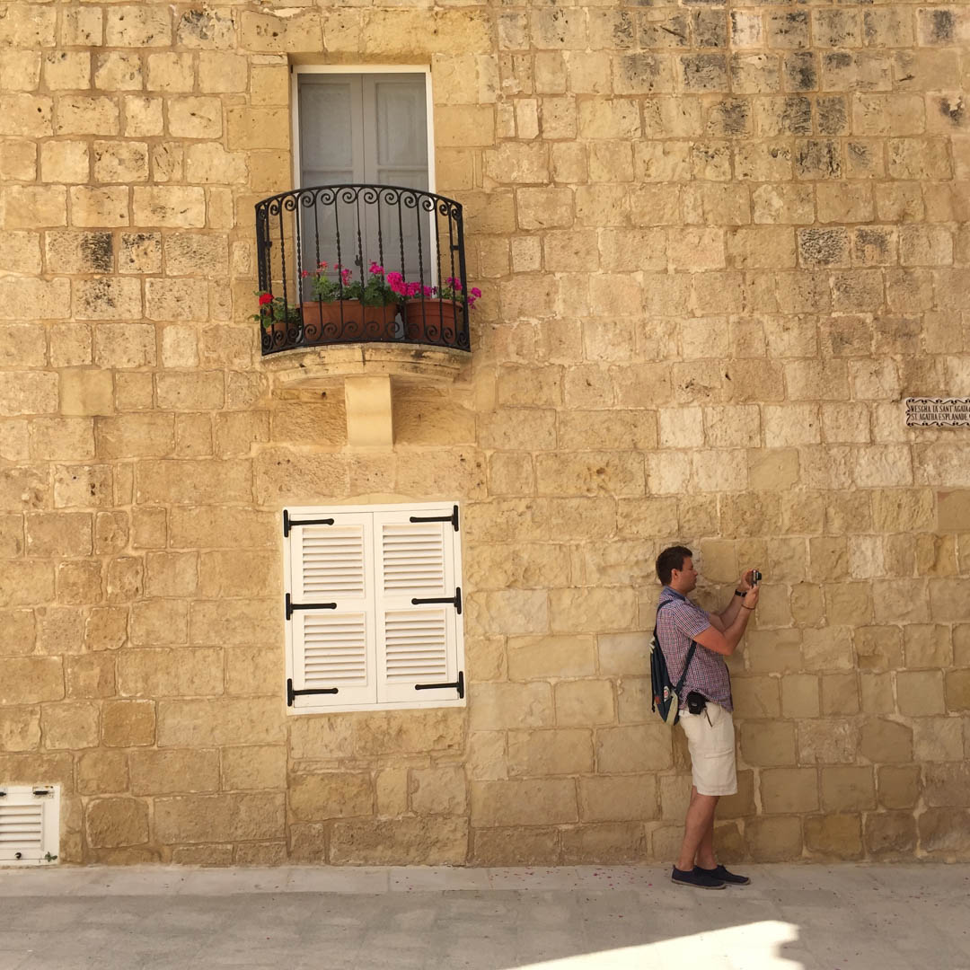 Mdina tourist taking photos