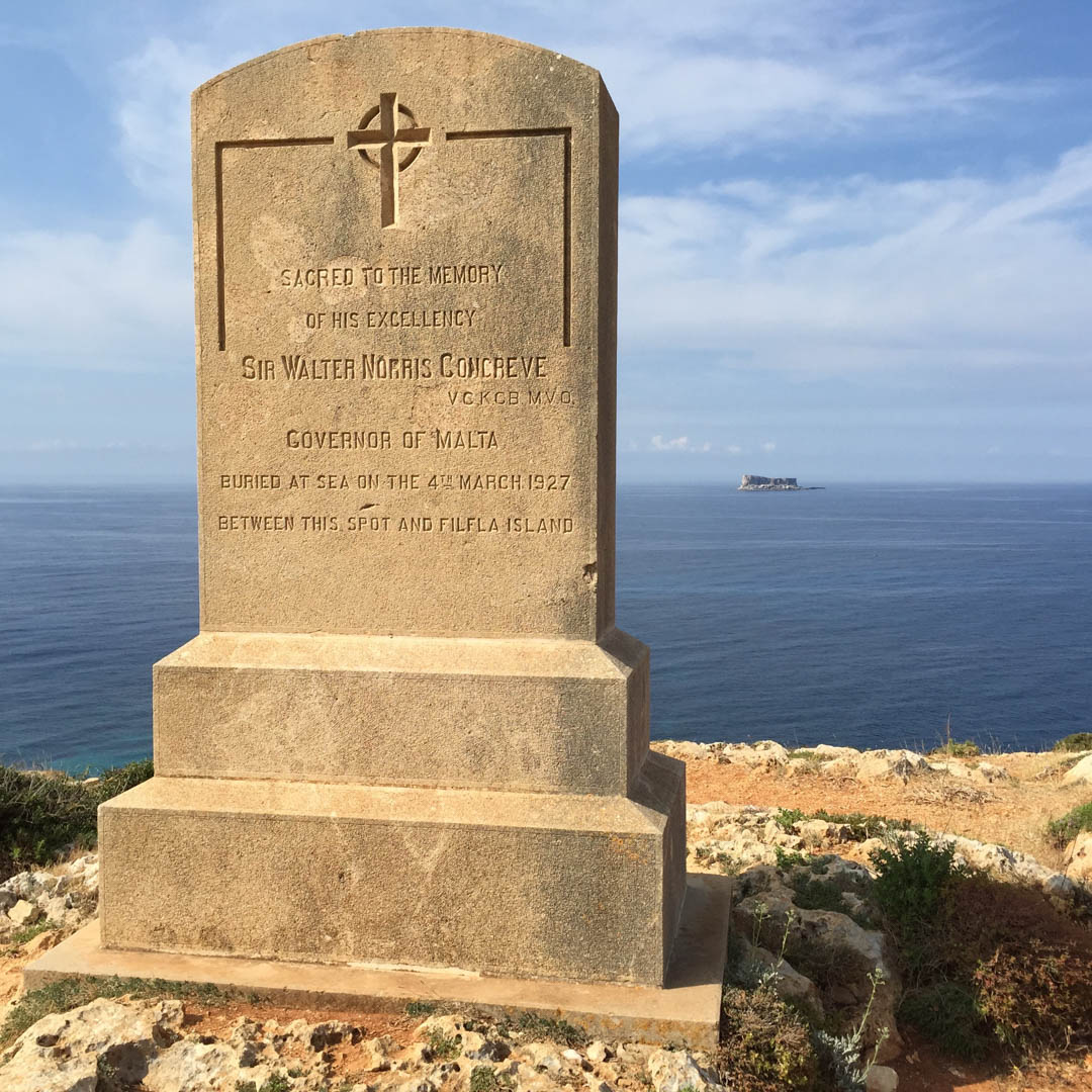 Burial Marker on Malta's southern coast
