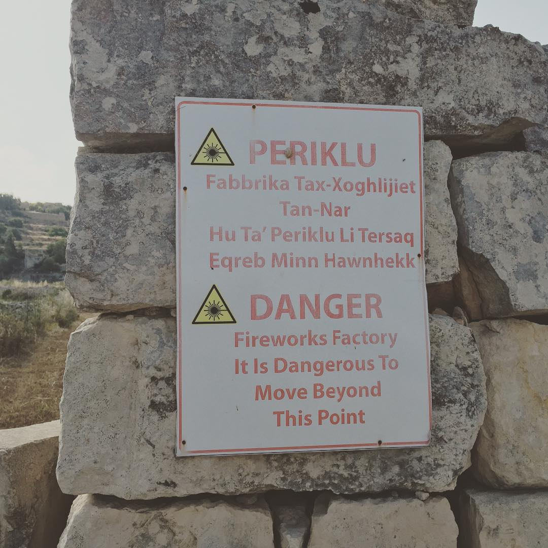 Fireworks factory in Malta