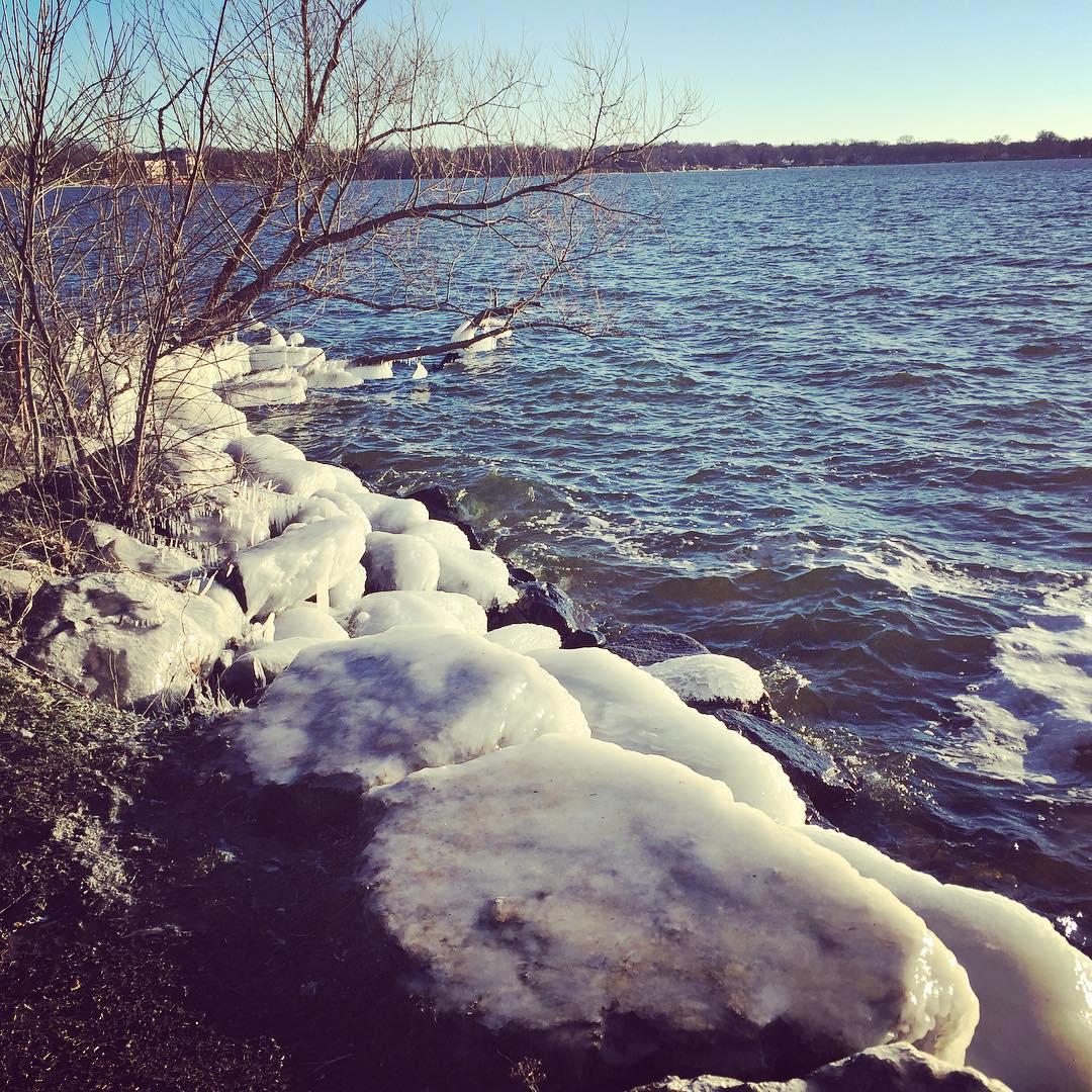 Ice-covered rocks