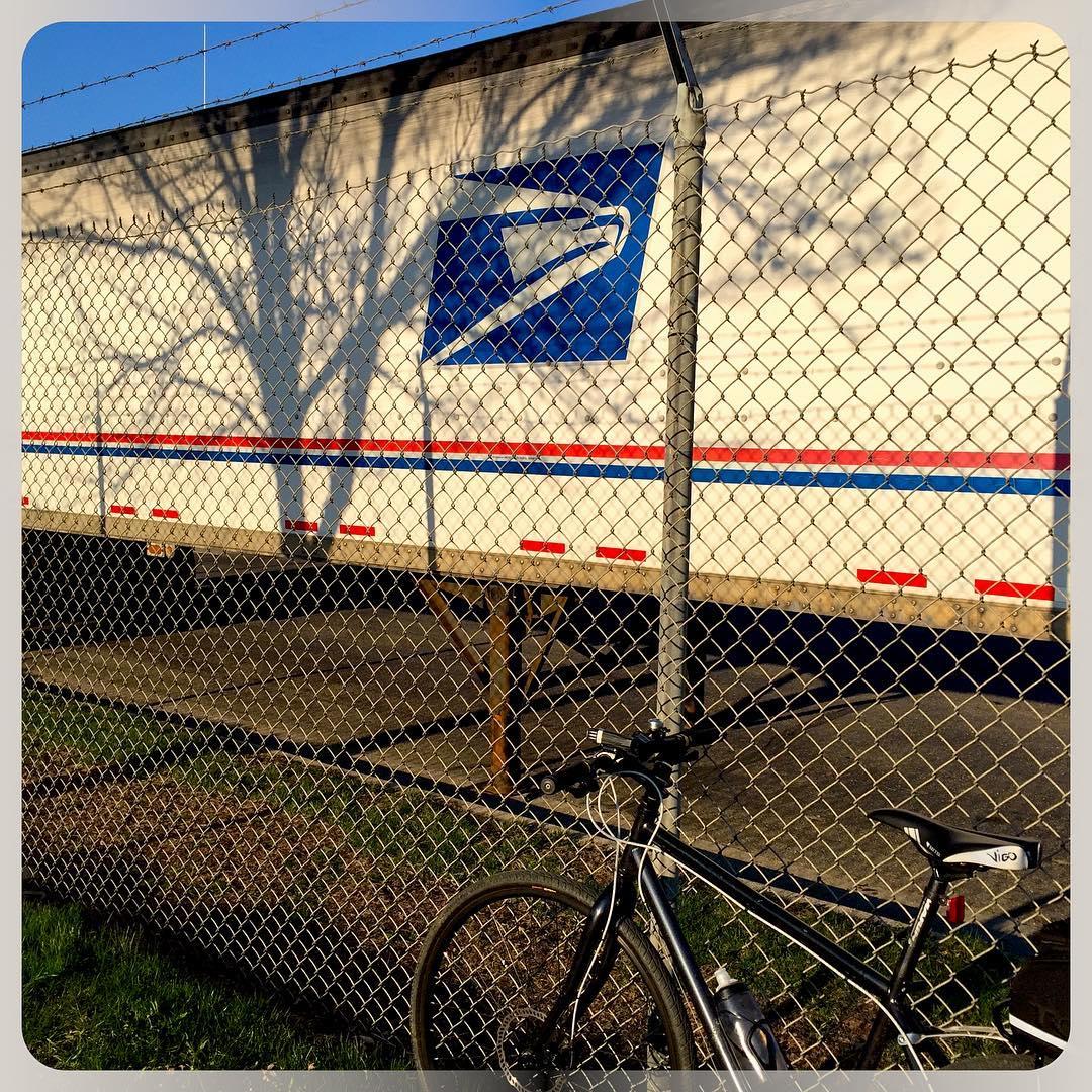 US Postal Service semi trailer