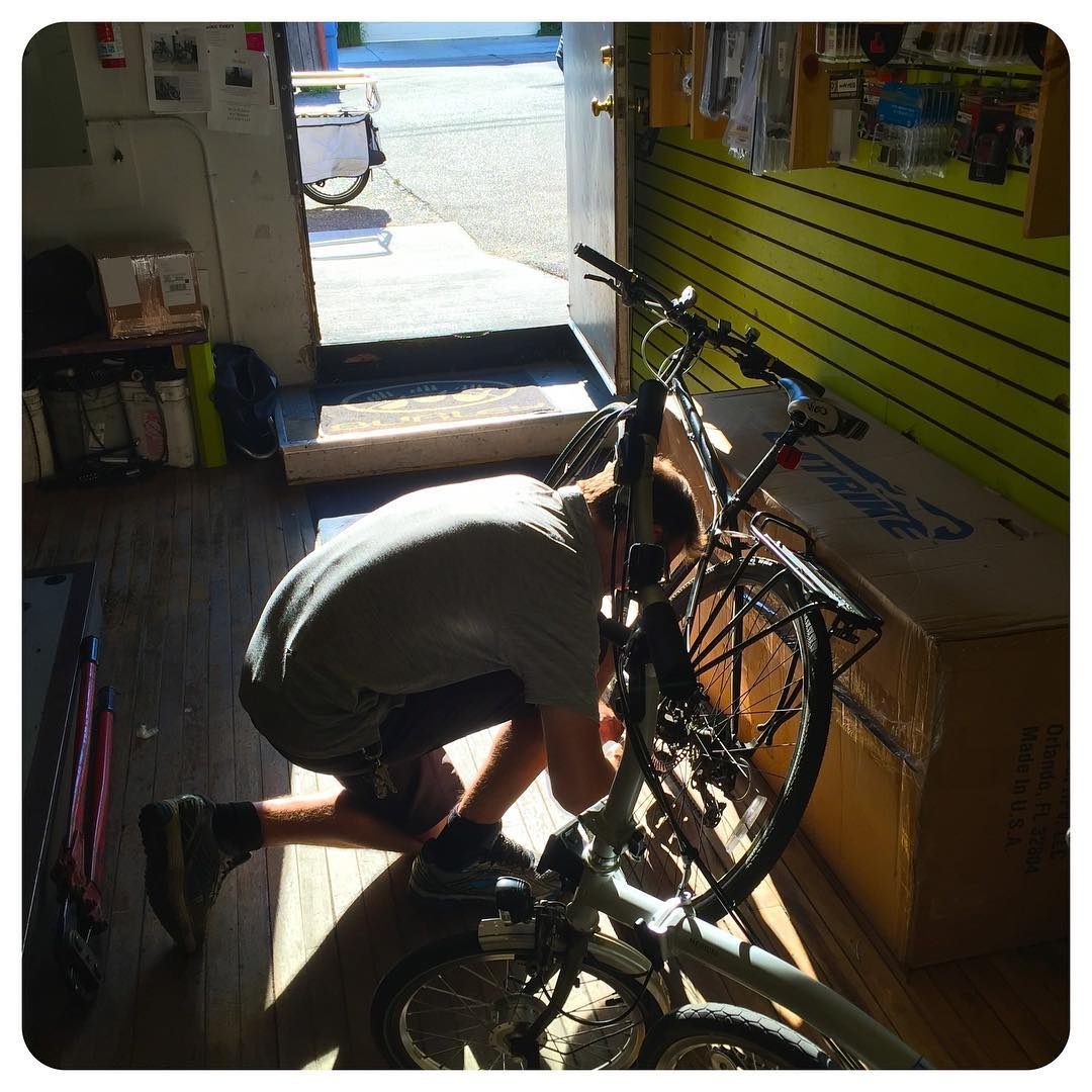 Getting an expert tweak from the owner of Perennial Cycle