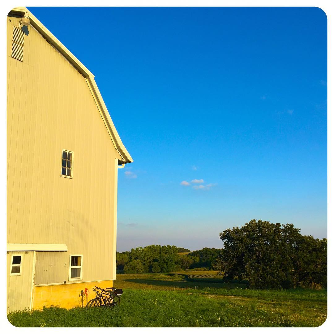 Barns, bikes and beautiful vistas
