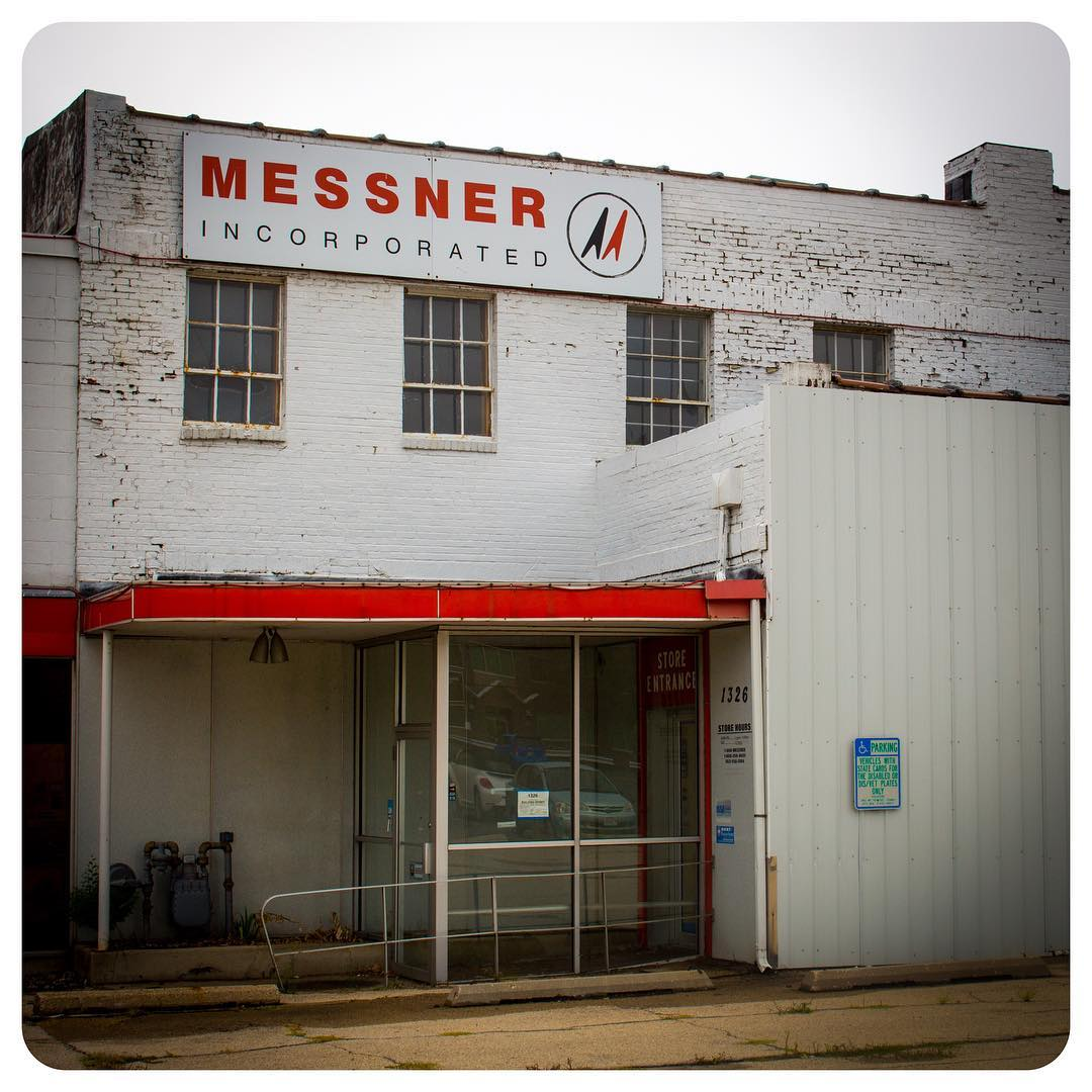 Vacant Messner Inc. building on East Wash