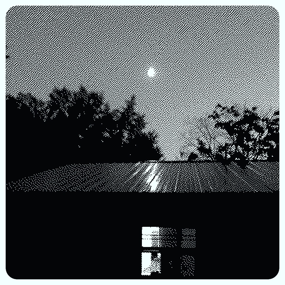The moon shining off my metal roof last night
