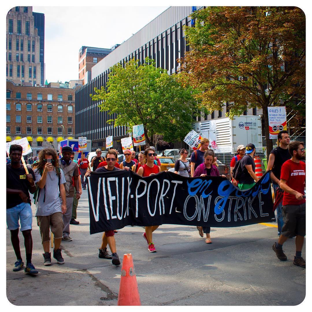 Vieux-Port de Montréal en grève (Old Port of Montréal on strike)