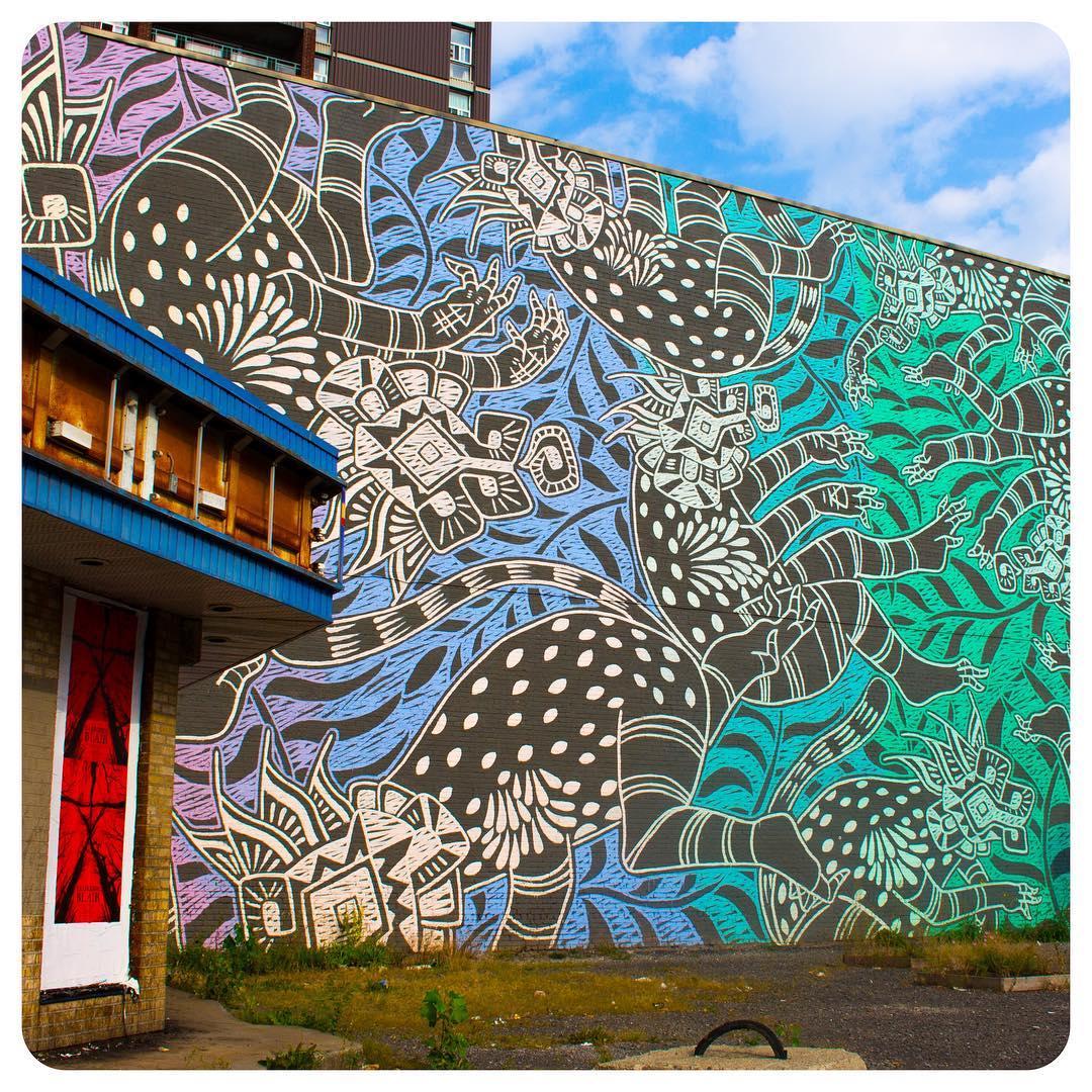 Mural in Montréal