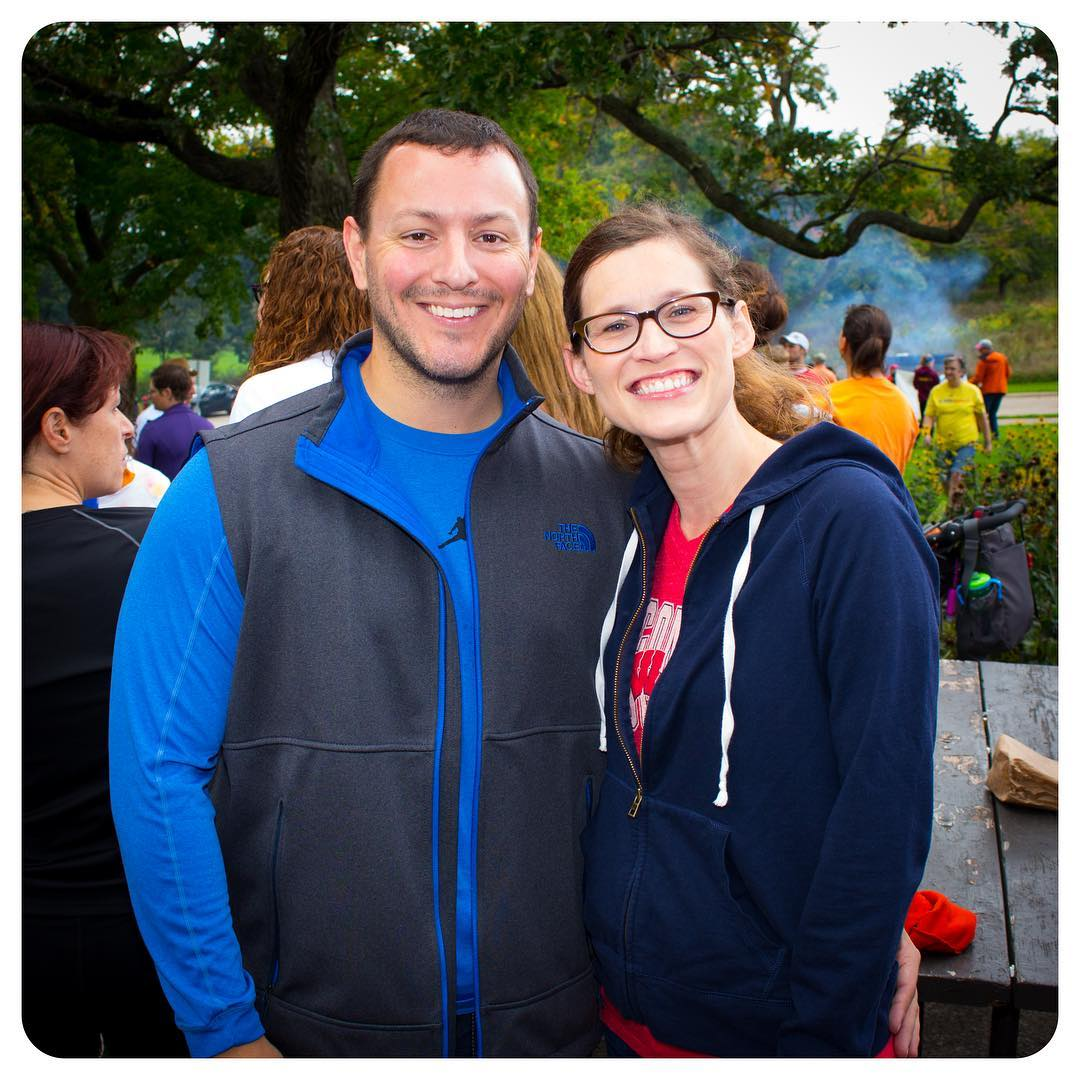 Leah and her boyfriend at NAMIWalks Dane County 2016