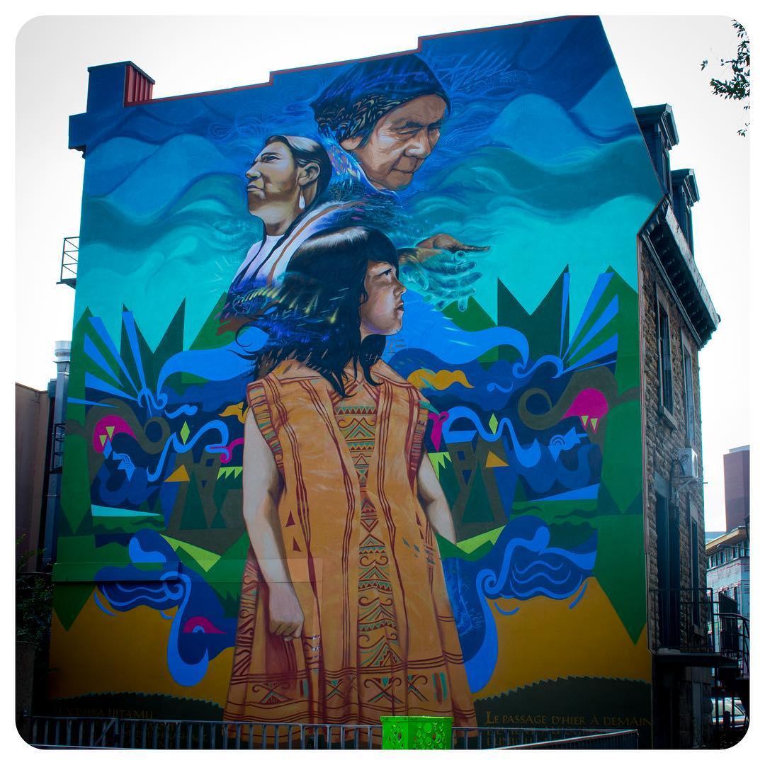 Indigenous peoples mural in Montréal