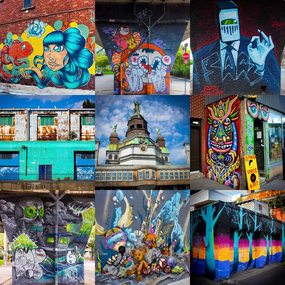 #2016bestnine My colorful trip to Montréal dominated my Instagram feed this year. Thanks for the likes.
