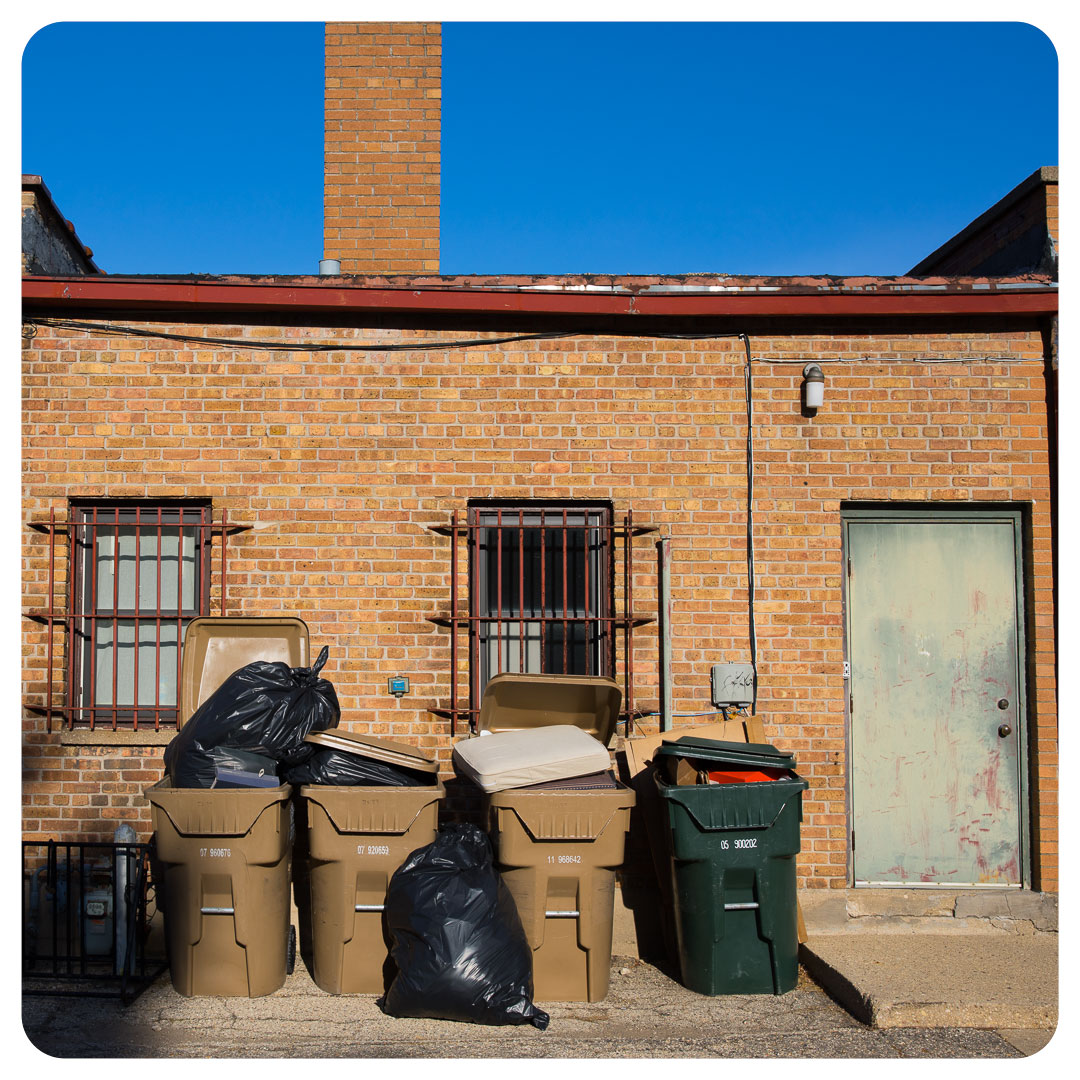 A back alley in Madison, Wisconsin