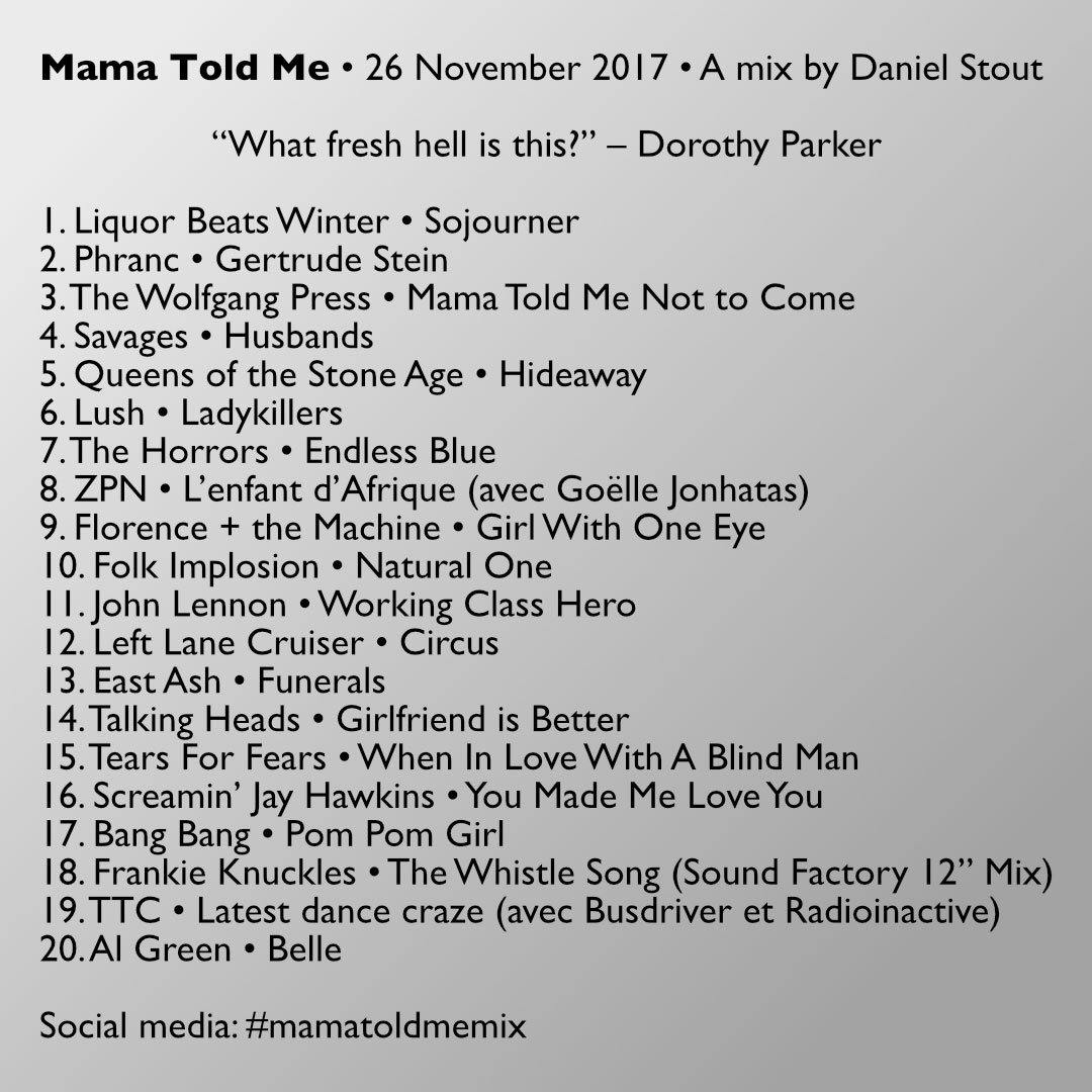 Mama Told Me track listing