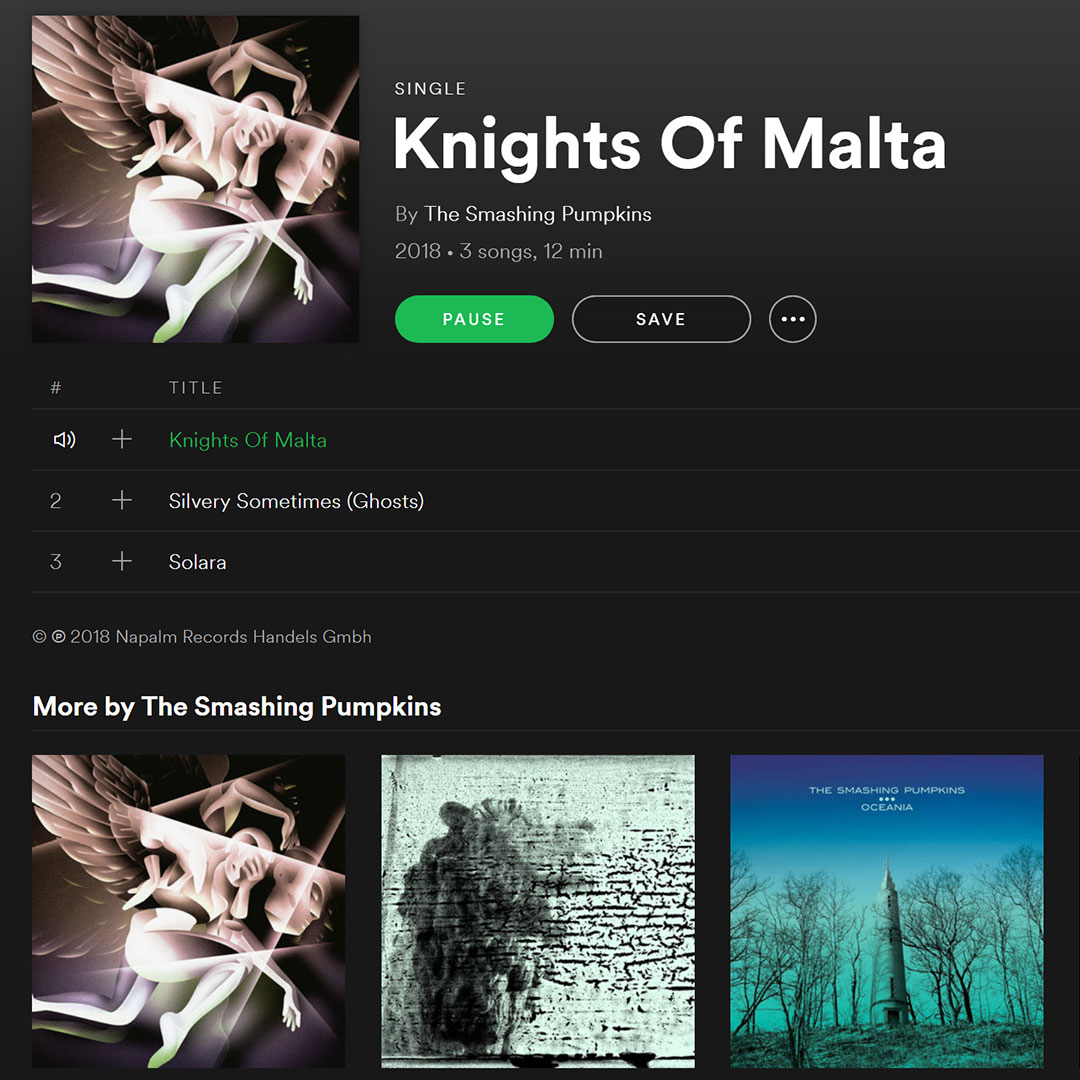 Knights of Malta - Smashing Pumpkins