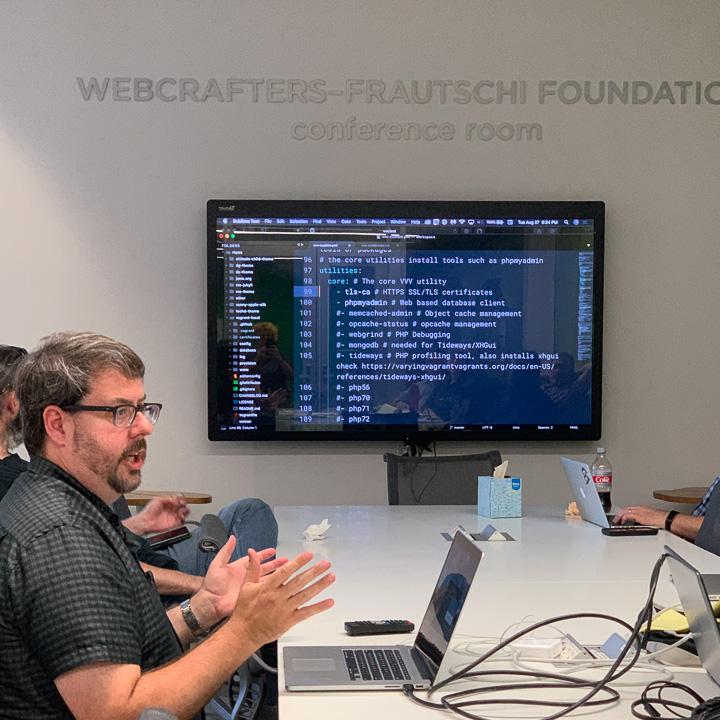 Dan Stout presents to the Madison WordPress Meetup