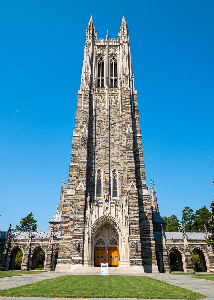 Duke Chapel at Duke University in Durham, North Carolina