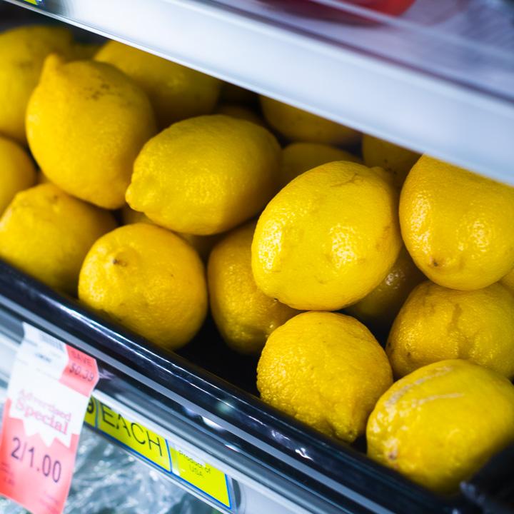 Grocery store lemons