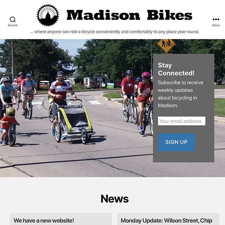 Madison Bikes website