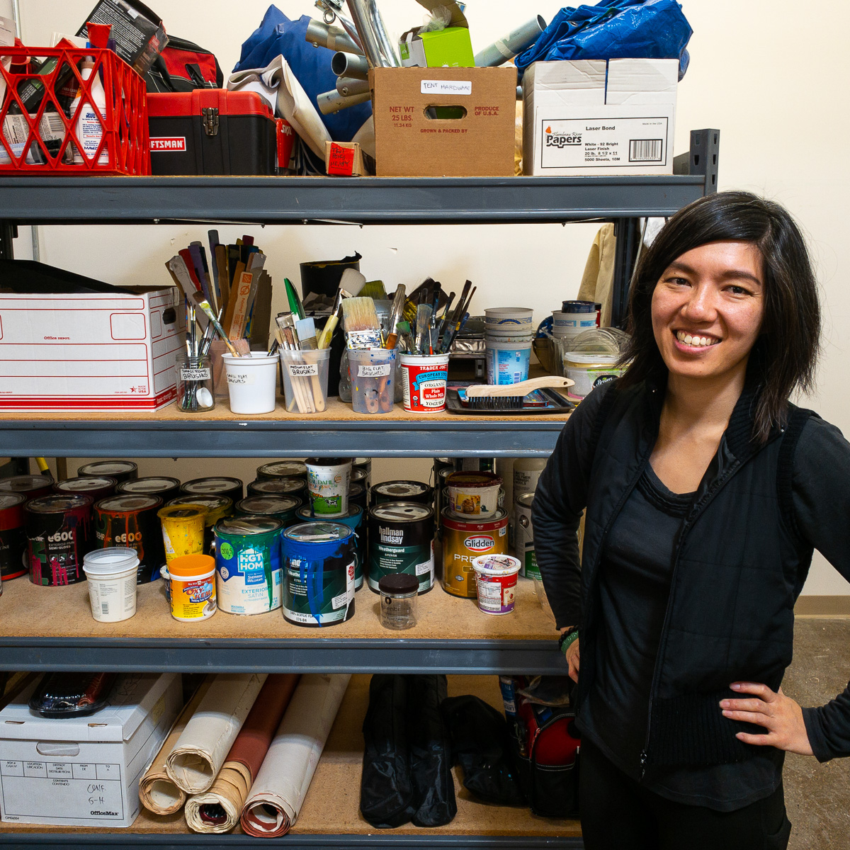 Jenie Gao in her Madison studio